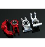 GTBRacing GTBracing aluminium achterwielnaafdrager voor LOSI DBXL, DBXL-E,MTXL in zilver en rood