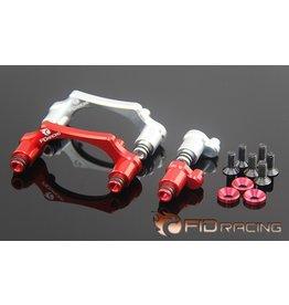 FIDRacing Brandstoftankhouder in zilver en rood