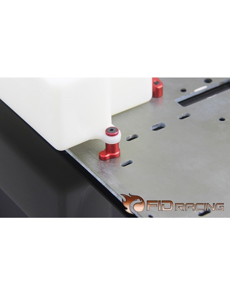 FIDRacing Fuel tank holder in silver and red