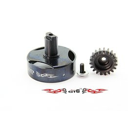 GTBRacing GTB Racing Losi 5ive T CNC koppelingshuis + 19t. tandwiel