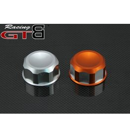 GTBRacing Alloy Fuel Tank Cap for Baja in silver or orange