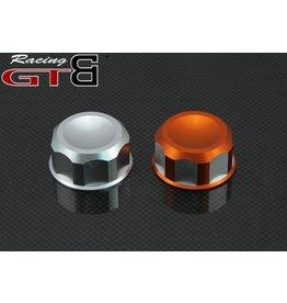 GTBRacing CNC Alloy tankdop voor Baja in zilver of oranje