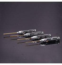RNA Tool  RNA Tool Hurricane1103  Hex Screwdriver Set Horizontal Holes 4pcs set Hex 1.5/2.0/2.5/3.0mm Ti Tips