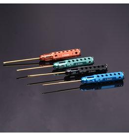 RNA Tool  RNA Tool Hurricane Hex Screw Driver set 1106 Mixed Color 4pcs set Hex 1.5/2.0/2.5/3.0mm Ti Tips