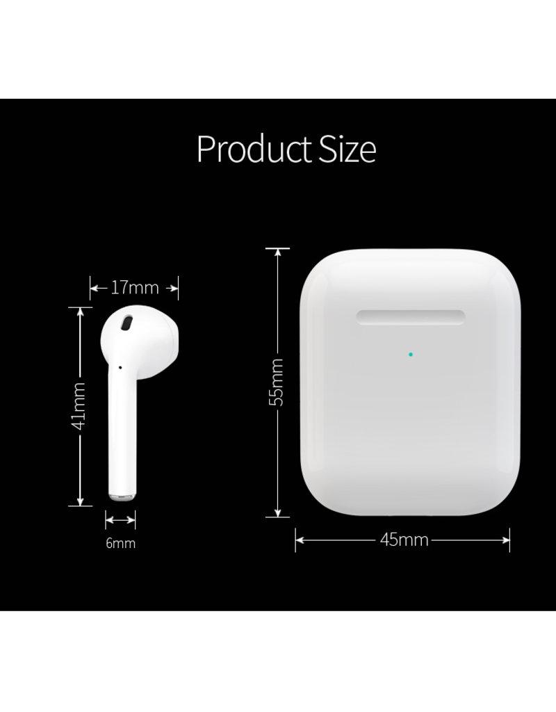 Sokoy TWS Bluetooth earphones i27 in kleuren wit en zwart