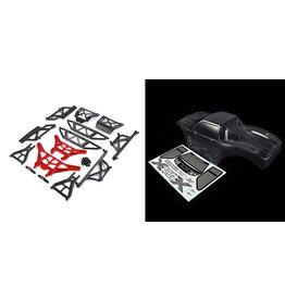 RovanLosi ROVAN LT / LOSI 5ive-T gemodificeerde X-LT body kit (transparante body met rode of blauwe CNC ALU metalen onderdelen)