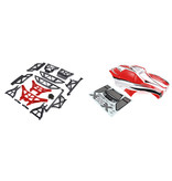 RovanLosi ROVAN LT / LOSI 5ive-T modified X-LT car shell kit (with red or blue shell wit red or blue metal parts)