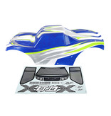 RovanLosi Rovan X-LT car shell in transparant, red or blue including sticker pack