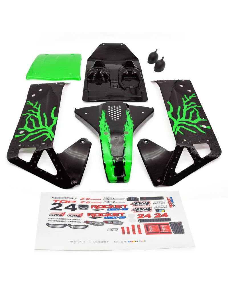 ZD Racing Body shell groen