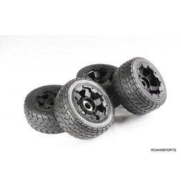 Rovan Sports Highway wheel set(4pcs/set) with heavy-duty headlock ring