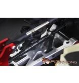 FIDRacing CNC strengthen drivingshaft set 9MM ( 5mm pin) - lengte 143 mm