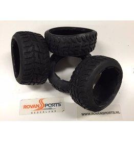 Rovan Highway tire set (4pcs/set) (without inner foam) Tarmac Buster 170x60+170x80