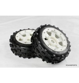 Rovan Sports New front knobby wheel set with front plastic super star wheel 2pc 170x60