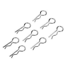 GTBRacing Body clips special silver 10pcs.