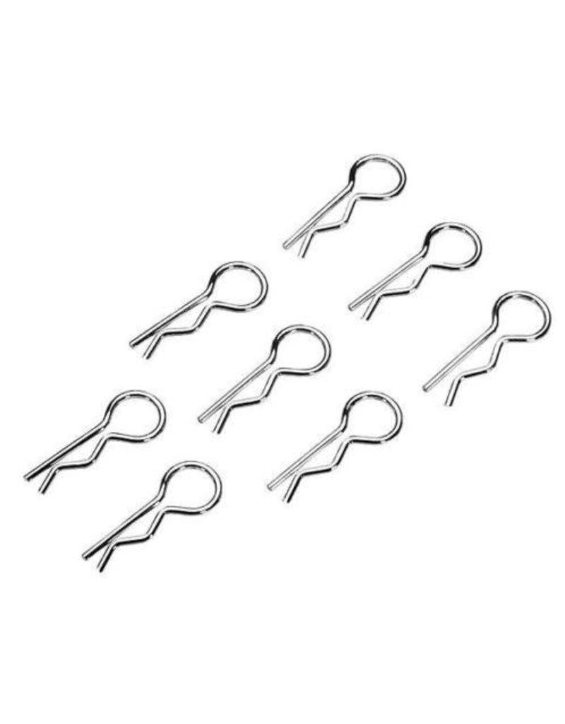 GTBRacing Body clips groot speciale zilveren uitvoering 10 pcs.