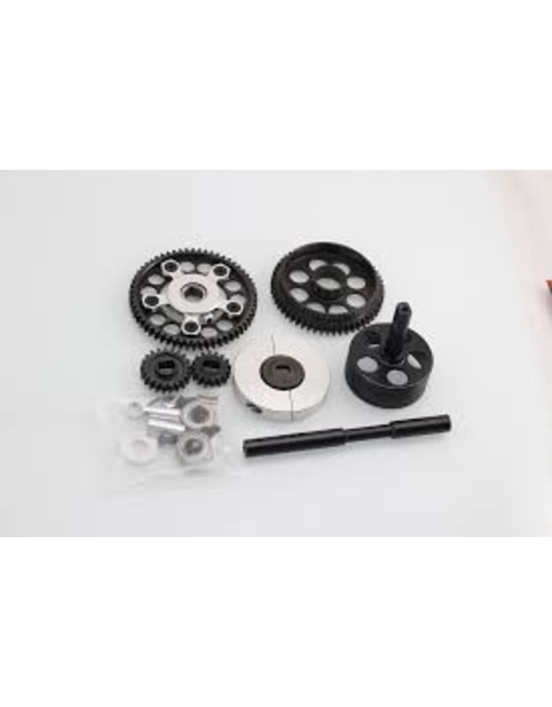 GTBRacing 2 speed gear system (gear ratio 16T:58T 21T:53T)