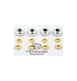 FIDRacing Alu shock nuts and seald to prevent oil leaking