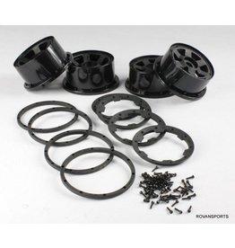 Rovan Sports Super six rims wheel with beadlock ring and screws
