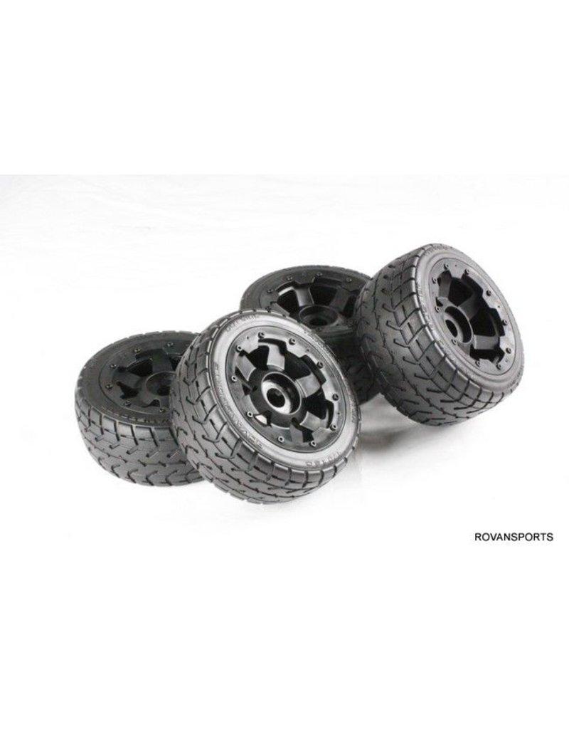 Rovan Highway wheel set(4pcs/set) with heavy-duty headlock ring