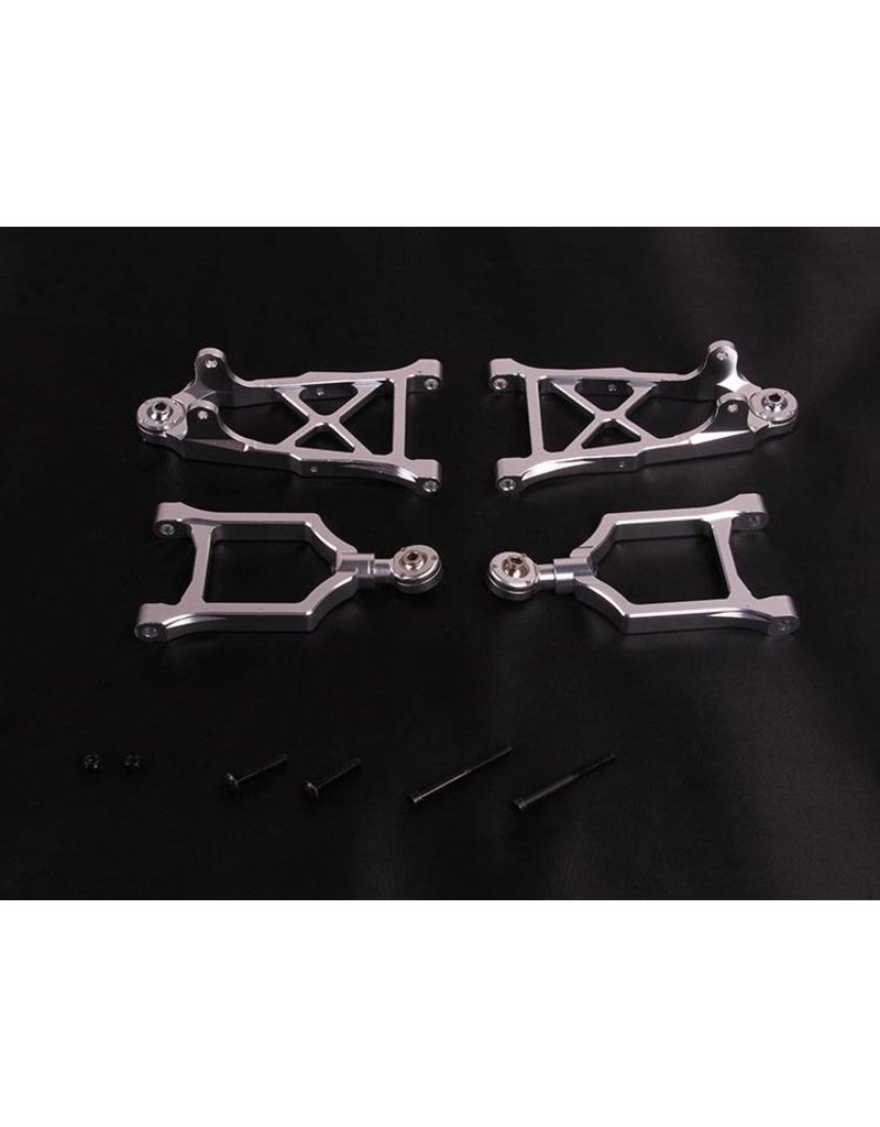 Rovan Front suspension arm kit alu (complete) / Voorwielophanging arm alu (compleet)