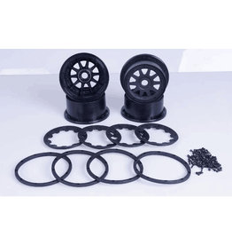 Rovan 5B new upgraded wheel hub and beadlock sets (generation three) - 10 spaaks