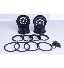 Rovan Sports 5B new upgraded wheel hub and beadlock sets (generation three) - 10 spaaks
