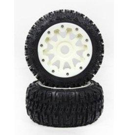 Rovan Sports Rear Knobby tire set complete Nylon (3rd gen) 5B