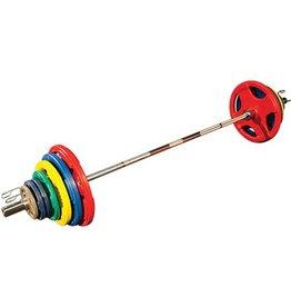 Olympische Halterset 140 kg (gekleurd)