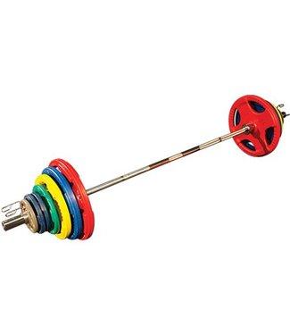 Body Solid Olympische Halterset 140 kg (gekleurd)