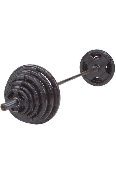 Olympische Halterset 140 kg (zwart)