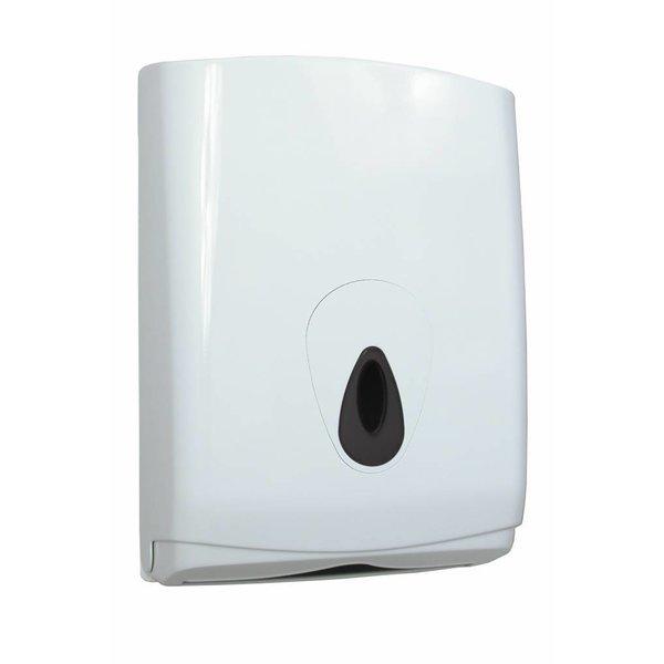 PlastiQline Dispenser Handdoekpapier Folded kunstof wit