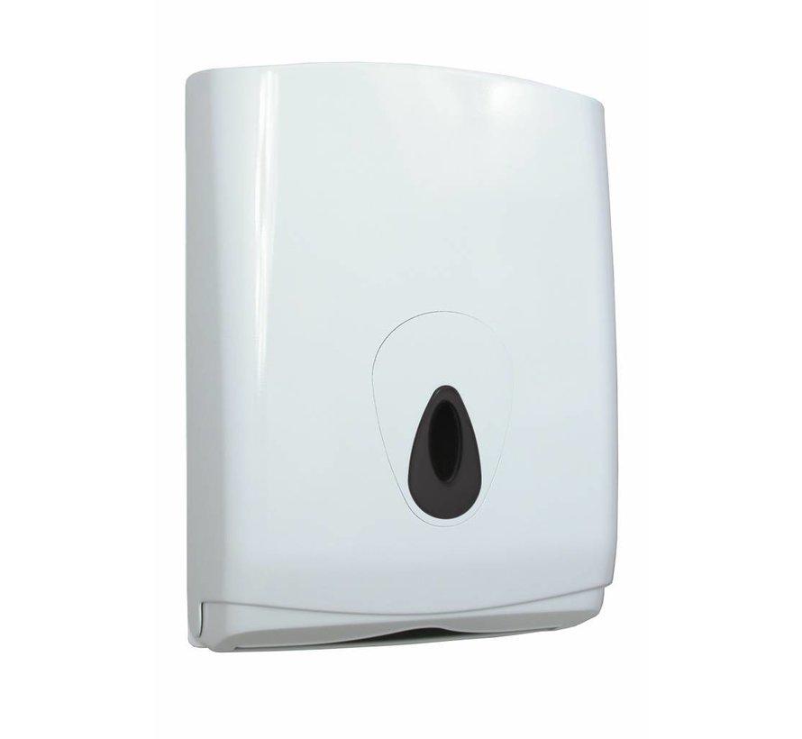 Dispenser Handdoekpapier Folded kunstof wit