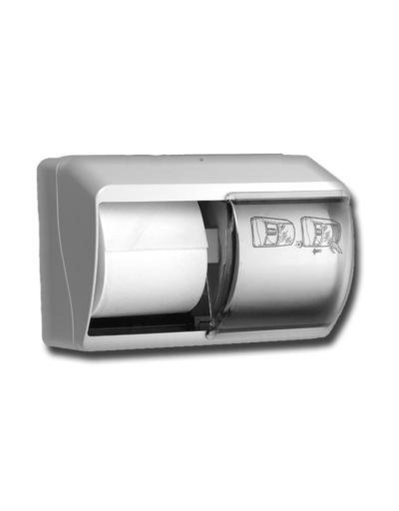 Dispenser Toiletpapier Duo traditioneel kunstof wit