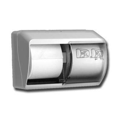 Dispenser Toiletpapier Duo traditioneel kunstof wit-1
