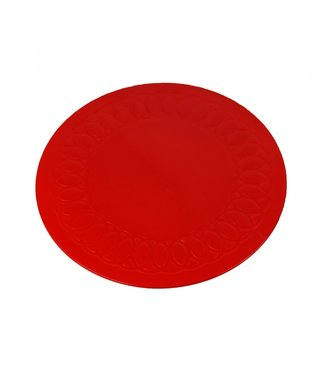 Able2 Anti-slip matten rond - rood 19 cm
