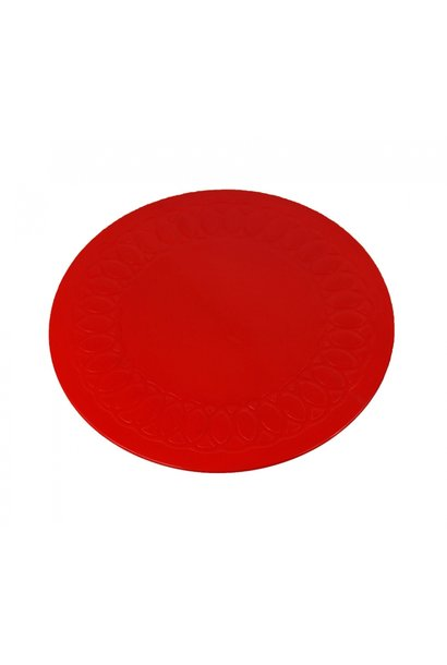 Anti-slip matten rond - rood 19 cm