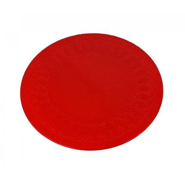 Able2 Anti-slip matten rond - rood 19 cm