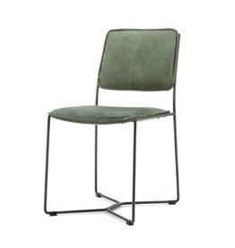 Eleonora Stuhl Mees - grün vintage leder