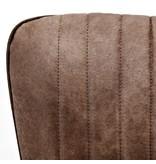 Eleonora Stoel Chiba met grijze eiken poot - bruin jackson