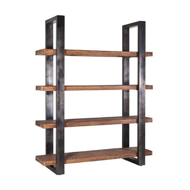 Eleonora Boekenkast Mango 160 cm met metalen frame - zwart