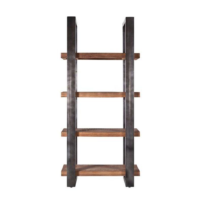 Eleonora Boekenkast Mango 94 cm met metalen frame - zwart