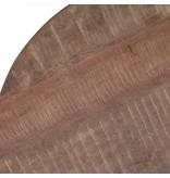 Eleonora Beistelltisch Mango  mit Metall Fuß 50x50 - schwar