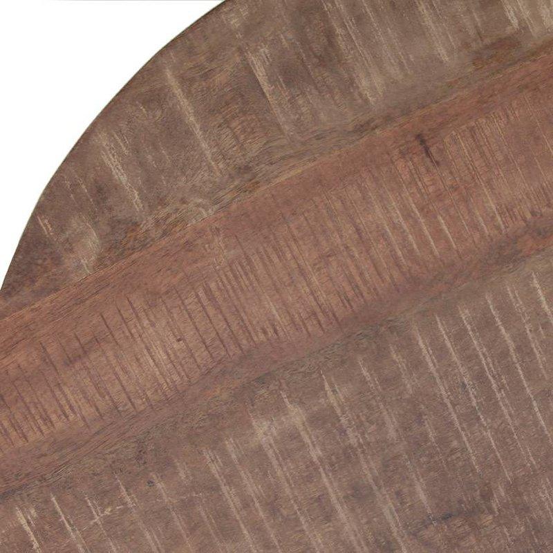 Eleonora Couchtisch Mango mit Metall Fuß 70x70 - schwarz