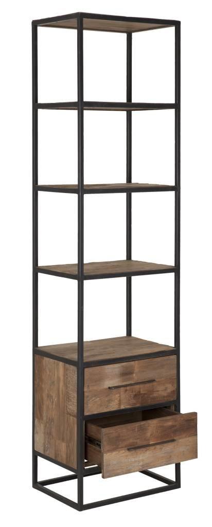 D-Bodhi Boekenkast hoog smal, 2 laden, 4 open vakken