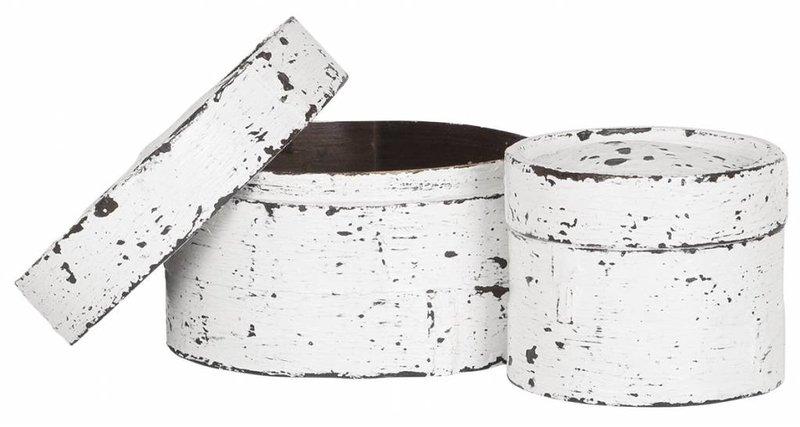 D-Bodhi Basket Dim Sum, set van 2 10xø12cm/12xø18cm, white