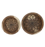 D-Bodhi Bowls Mandala Lotus, set van 2