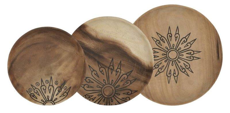 D-Bodhi Dienbladen Mandala, set van 3