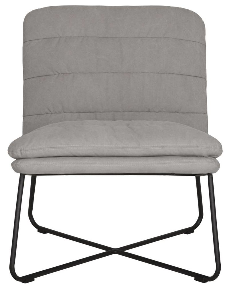 D-Bodhi Fauteuil Stripe, stonewashed cotton grey