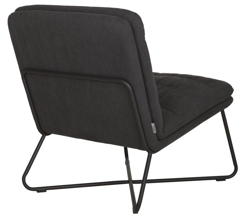 D-Bodhi Fauteuil Stripe, stonewashed cotton charcoal
