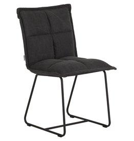 D-Bodhi Chair Cloud, stonewashed cotton charcoal